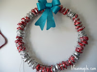 Recycled Pop Can Wreath