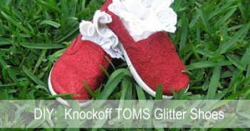 red glittery shoes