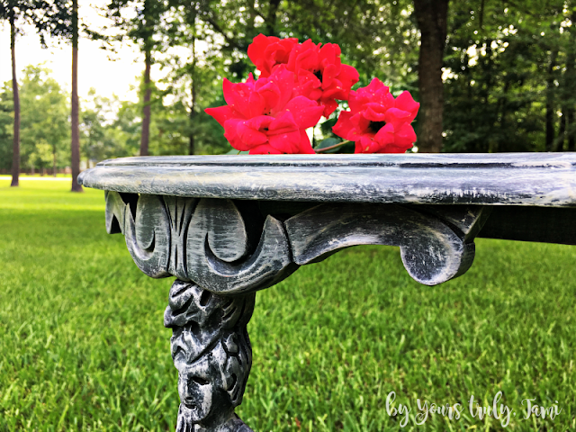 Small Grey DryBrushed Accent Table