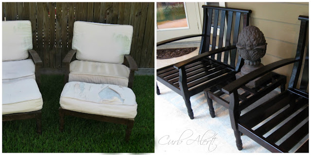 Refinished Outdoor Patio Chairs