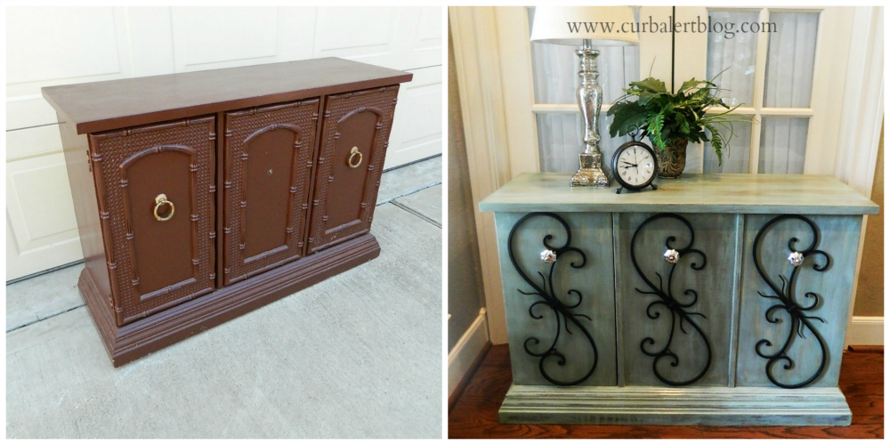 Rustic Glam Cabinet Makeover