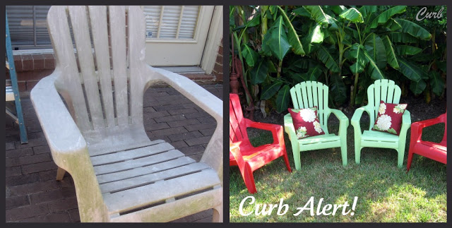 Quick and Easy Paint Job on Curbside Chairs
