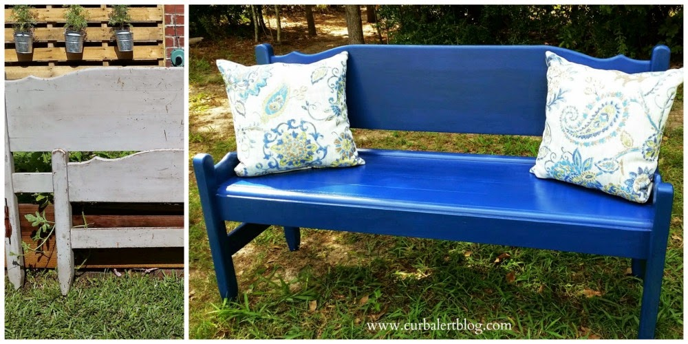 Bright Blue Bench
