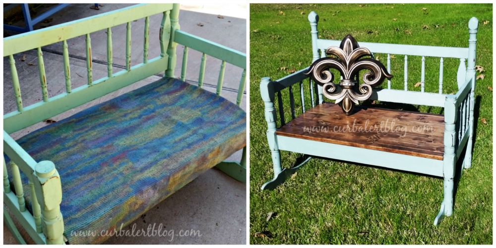 Blue Rocker Bench