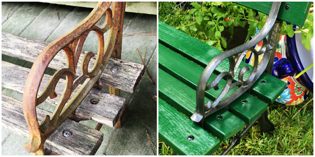 Outdoor Garden Bench Makeover