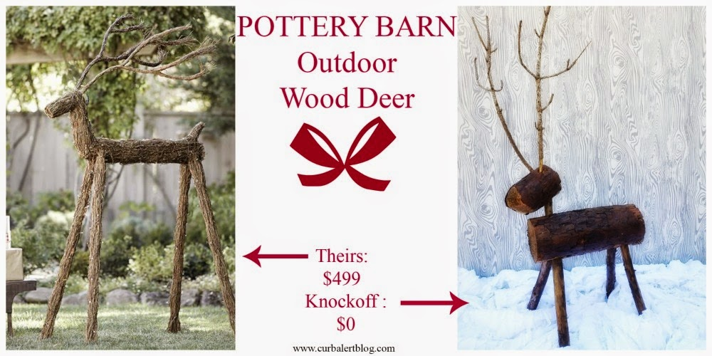 Knockoff Outdoor Wood Deer