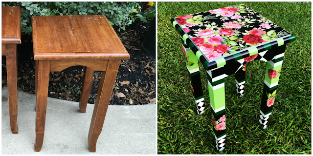 Mac-Kenzie Childs Inspired Accent Table