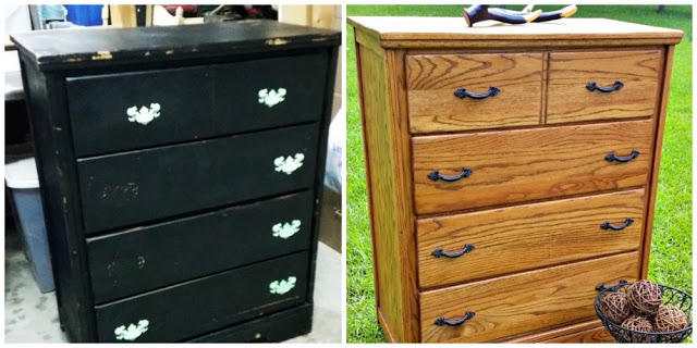 Rustic Solid Wood Dresser Makeover
