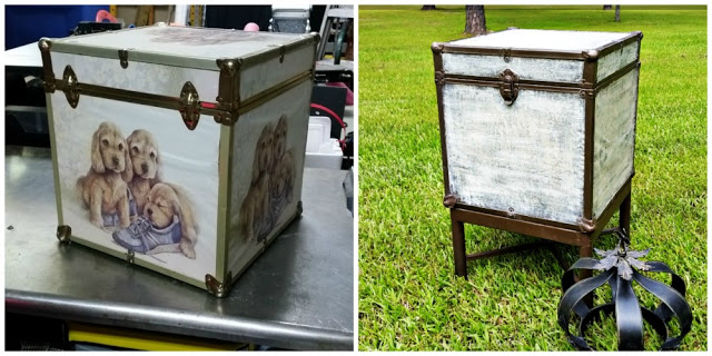 Pottery Barn Inspired Trunk Side Table