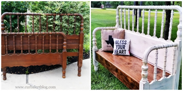 Bless Your Heart Headboard Bench