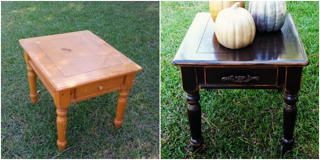 Black Distressed End-table