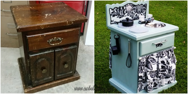 Old EndTable Play Kitchen