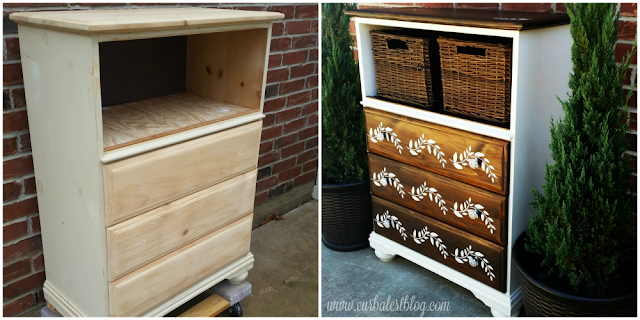Stenciled Dresser Inspired by Chocolate