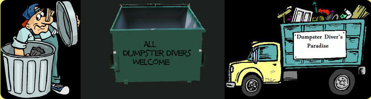 All dumpster divers welcome banner