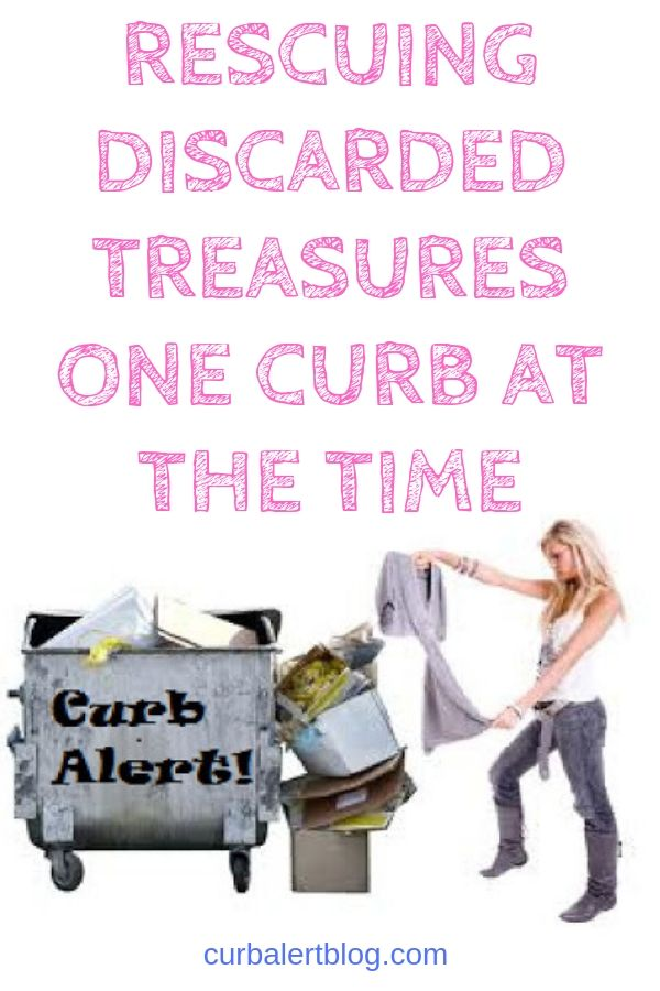 Curb alert blog - rescuing discarded treasures one curb at a time #curbalert #racycledfurniture #diamondintherough #repurposedfurniture #newlife