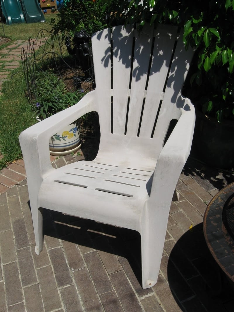 Gray plastic chair