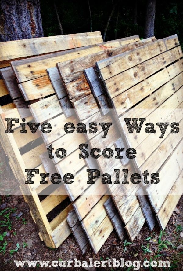 Wonder how to get free pallets? I share my favorite places for finding them. #pallets #freepallets #palletsdiy