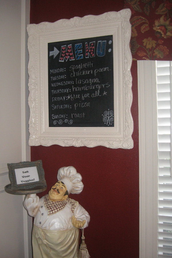 Kitchen quote frame