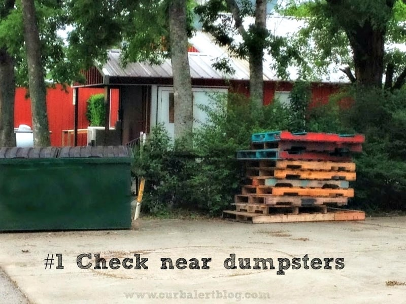 Find pallets near dumpsters