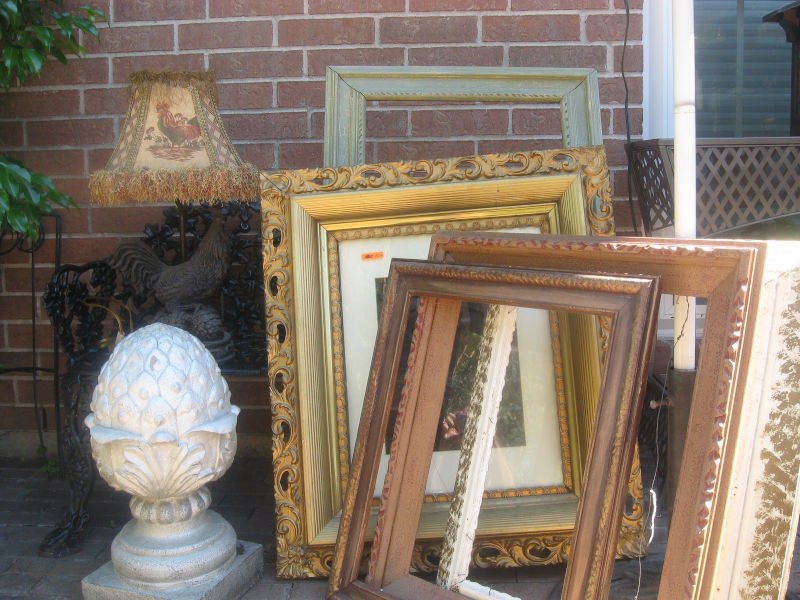 Stash of picture frames from a garage sale