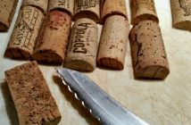 Wine corks cut in half