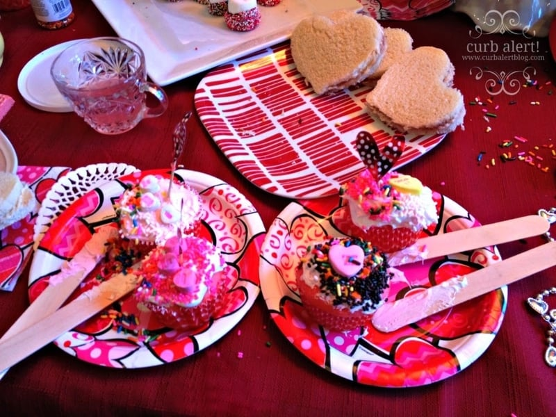Cupcakes decorated by the tea party girls