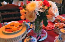 Table set up for girl's tea party