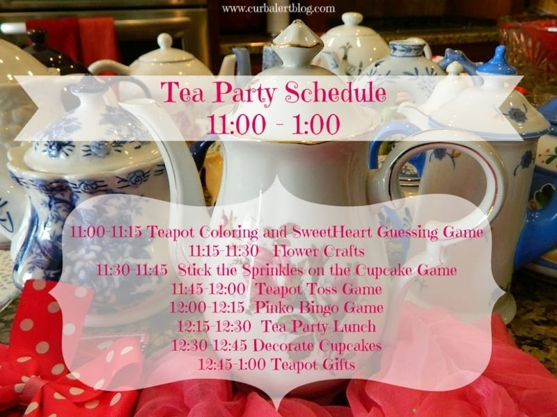 Tea party schedule