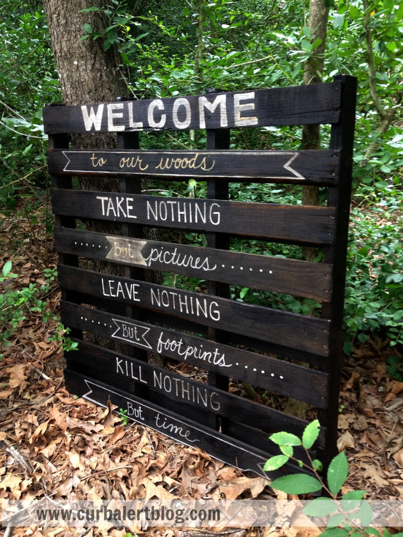 Welcome to our woods full sign