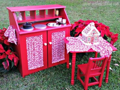 Finished Christmas play kitchen