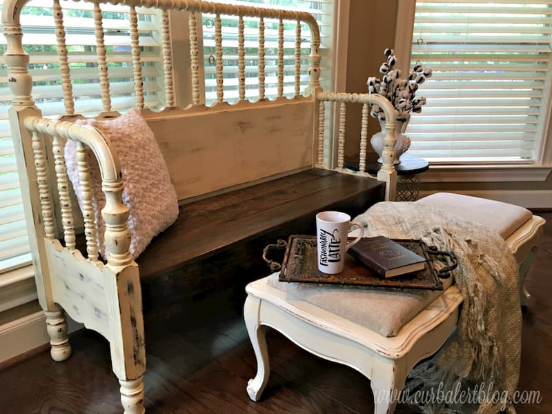 Headboard bench and ottoman together