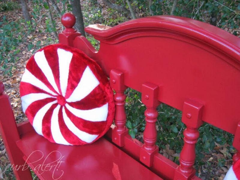 Peppermint pattie bench
