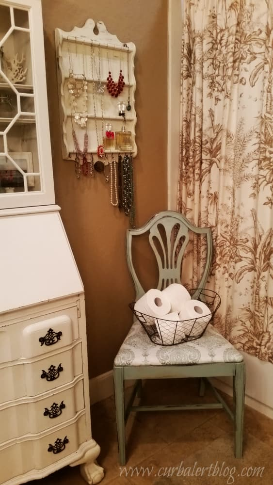 Accent chair in the bathroom