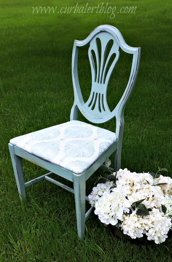 Finished recycled chair