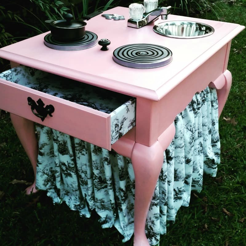 Finished pink play kitchen