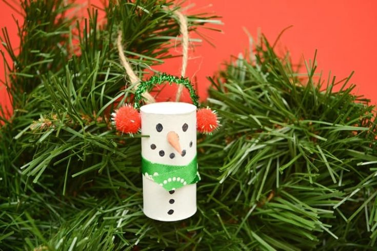 Easy Wine Cork Snowman Ornament DIY