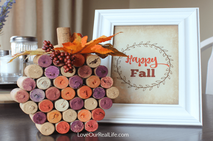 Wine Cork Pumpkin