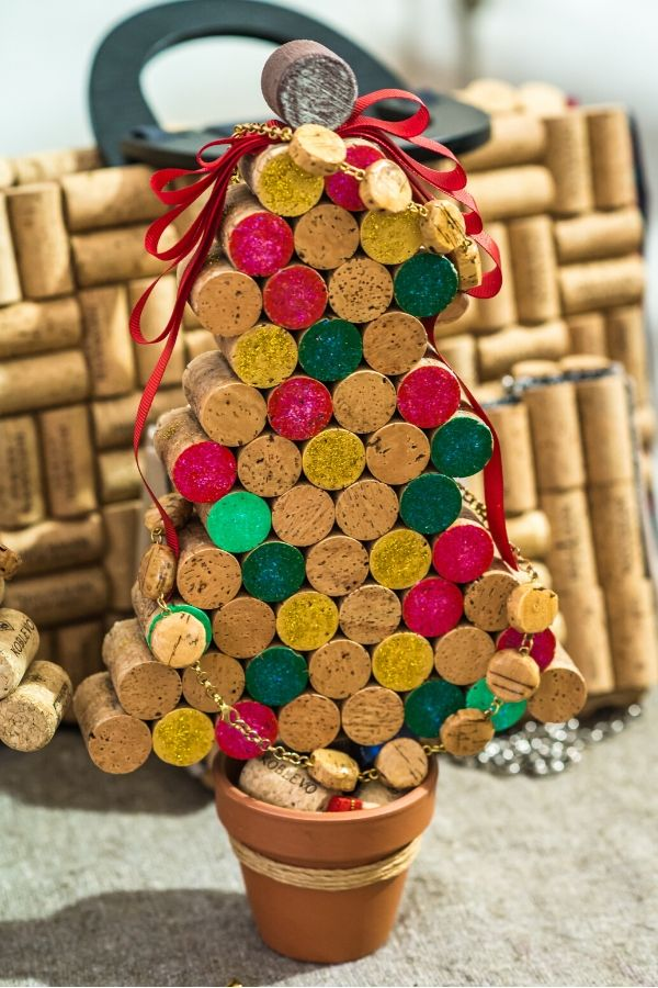 Cork Christmas tree pot