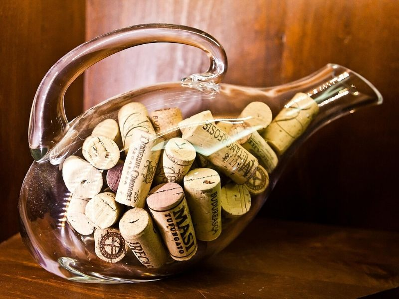 Corks in a bottle
