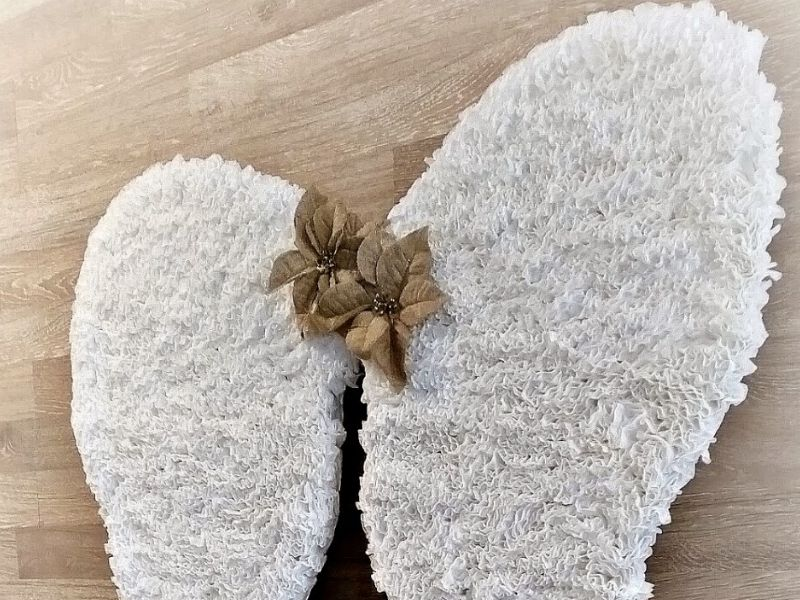 DIY angel wings made with coffee filters