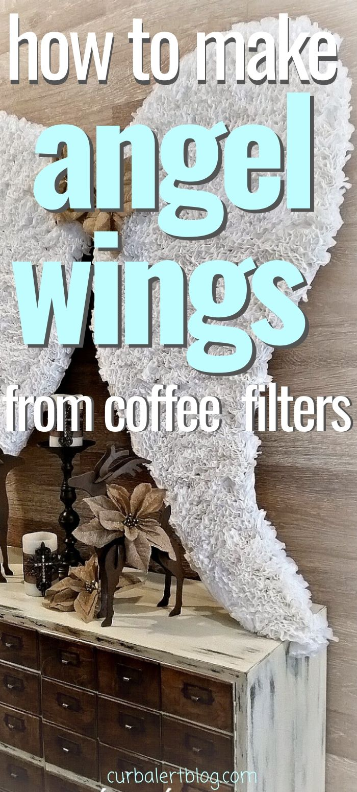 How to make angel wings from coffee filters. #algels #angelcrafts #angelwings #angelcraft #coffeefiletercrafts