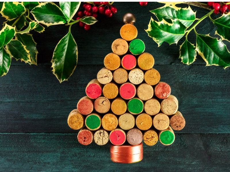 Wine cork Christmas decoration