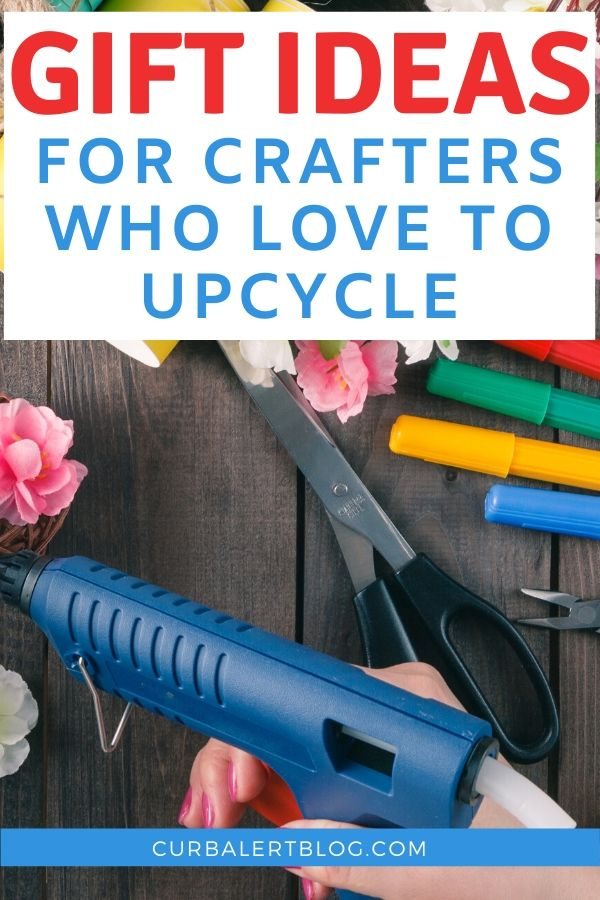 Ever wonder what gift you could give your crafter friends, especially those who turn trash into treasure? There are LOTS of things you could gift them! From paint brushes to drills, and from a dust mask to stencils. I gathered a comprehensive list to make your life easier. #crafts #giftsforcrafters #craftinggifts #craftsupplies #craftgifts