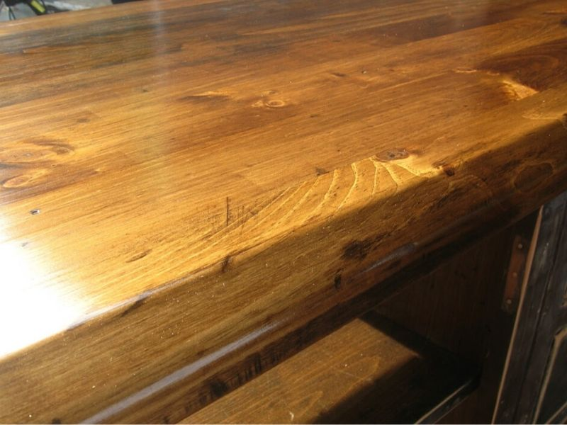 Another look at the stained dreser top