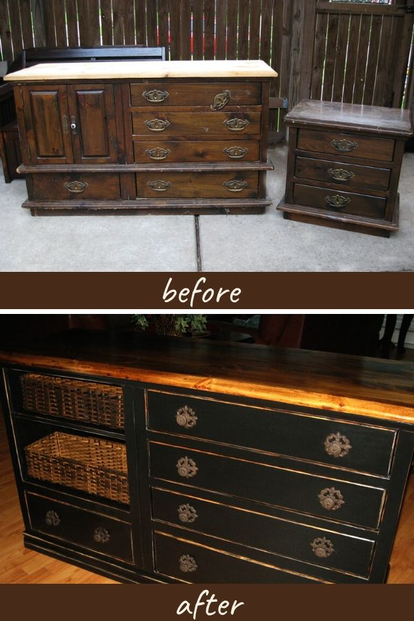 Dresser before and after updating