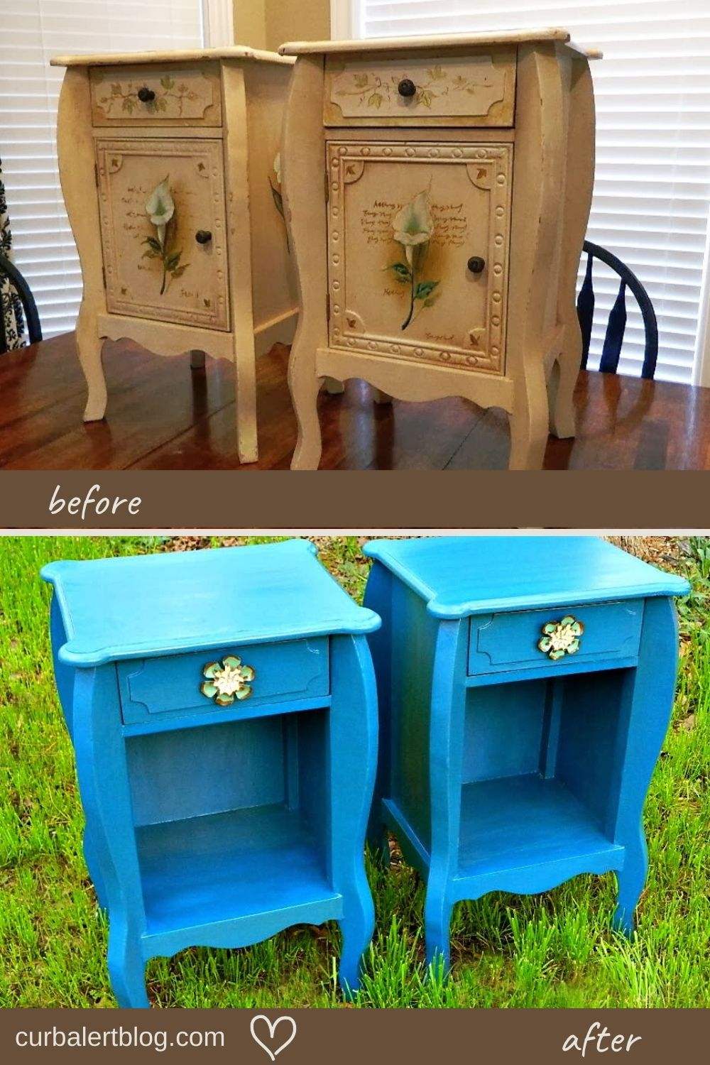 End tables before and after