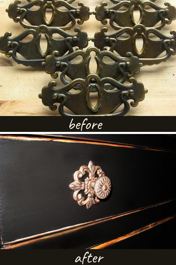 Dresser hardware before and after updating