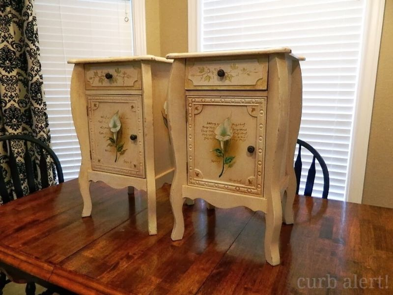 Original end tables I bought from a garage sale